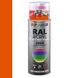 RAL2004 Helder Oranje hoogglans acryl lak in 400ml spuitbus -DupliColor