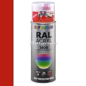 RAL3020 Verkeersrood hoogglans acryl lak in 400ml spuitbus -DupliColor