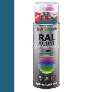 RAL5009 Azuur Blauw hoogglans acryl lak in 400ml spuitbus -DupliColor