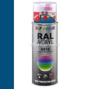 RAL5010 Enzian Blauw hoogglans acryl lak in 400ml spuitbus -DupliColor