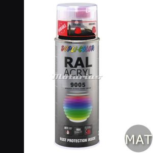RAL9005 Diep Zwart mat acryl lak in 400ml spuitbus -DupliColor