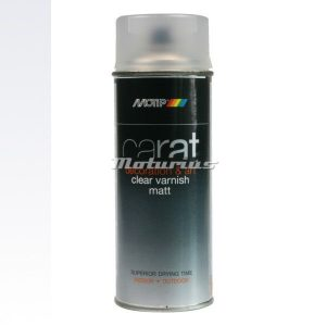 blanke lak mat Deco Art lak in 400ml spuitbus -Motip Carat