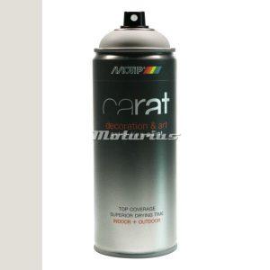 wit mat Pure White Deco Art lak in 400ml spuitbus -Motip Carat